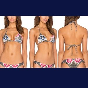 NWT BEACH RIOT Wildflower Bikini Top in Le Fleur S